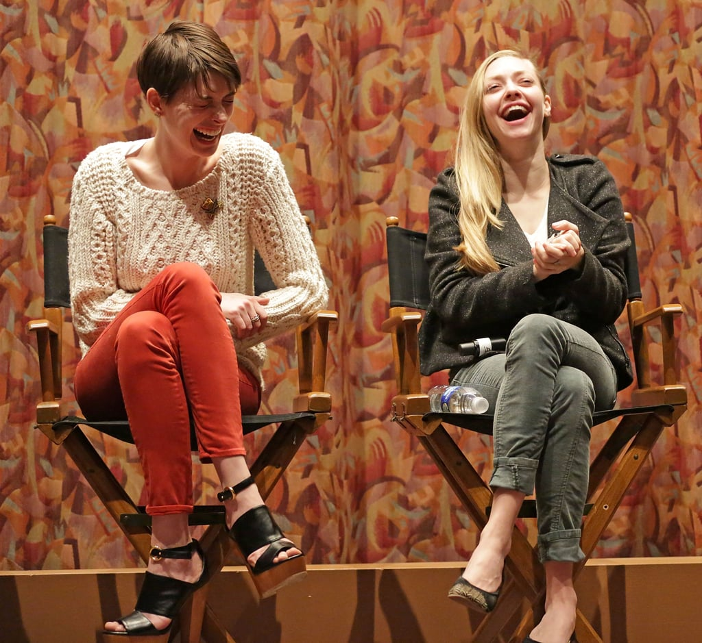 Anne Hathaway and Amanda Seyfried attended a SAG special screening and Q&A at the Writers Guild Theater in LA.
