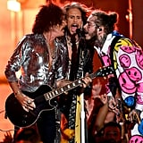 Joe Perry, Steven Tyler, and Post Malone
