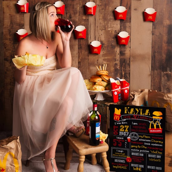Woman's 30th Birthday McDonald's Photo Shoot
