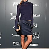 Jessica Hart looked dynamic in her navy Ferragamo designs while at the Innovator Awards.