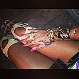 If you're looking for some hot polish hues, look no further than Rihanna. Source: Instagram user badgalriri