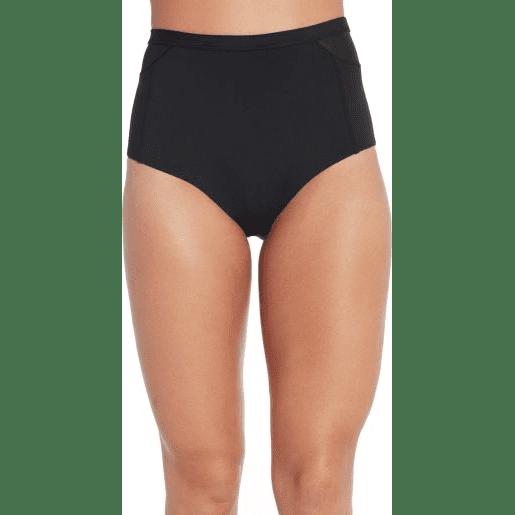 CALIA Women's Mesh Cut Out High Rise Swim Bottom