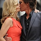 The couple shared a kiss during Kevin's Hollywood Walk of Fame ceremony in June 2009.