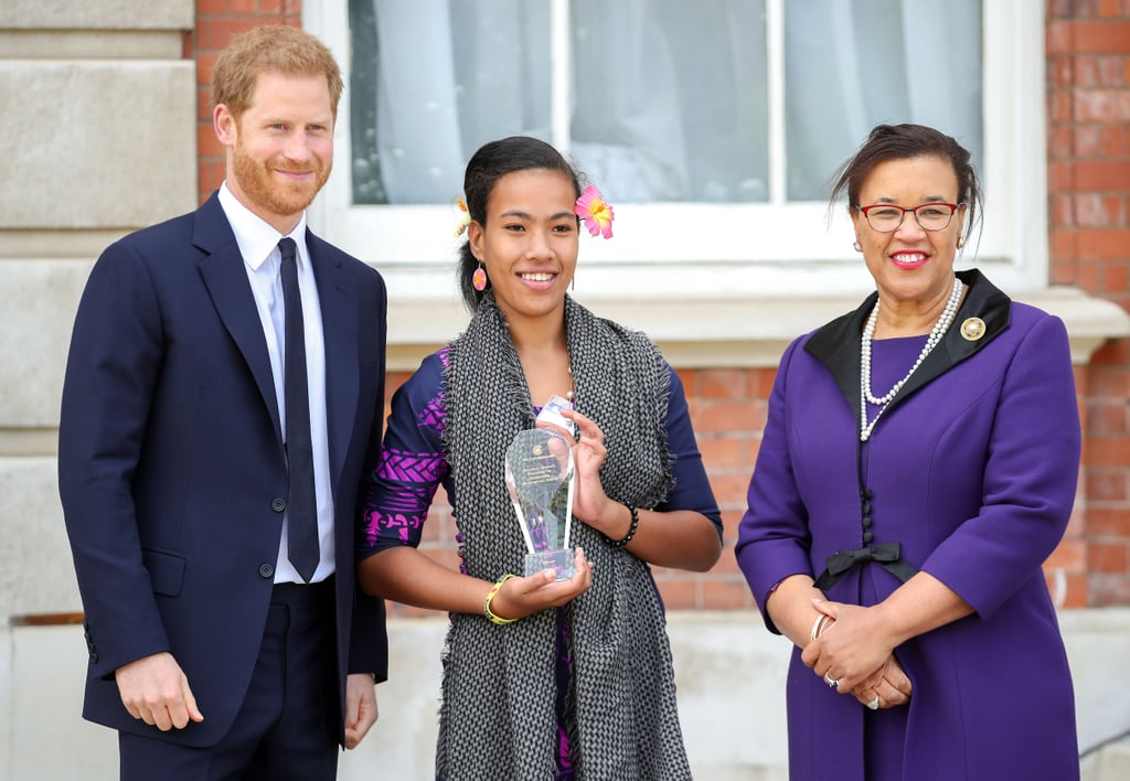 Prince Harry Is All Smiles at a Special Garden Party For the Commonwealth's Anniversary