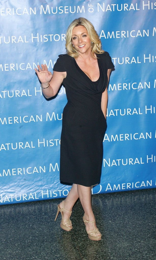 Jane Krakowski waved at the step-and-repeat.