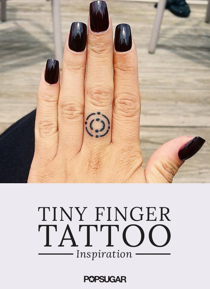 aa5b3c6177a36 Tiny Finger Tattoo Ideas   POPSUGAR Beauty