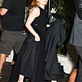 Ashley Olsen Black Block Heel Shoes
