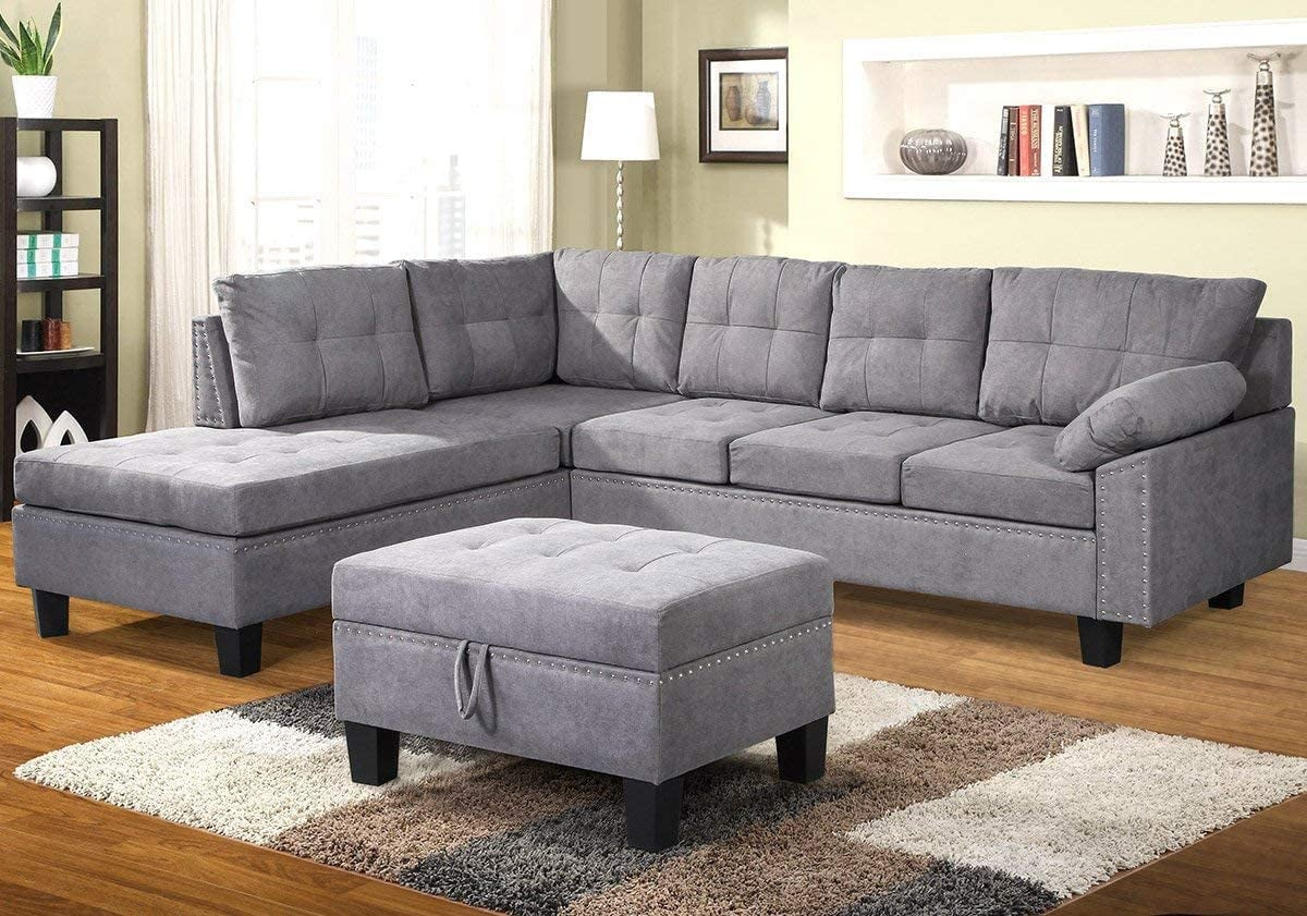 Picture of: Merax Sectional Sofa With Chaise Lounge 15 Stylish And Comfy Sectional Sofas You Ll Love Lounging On Popsugar Home Photo 7