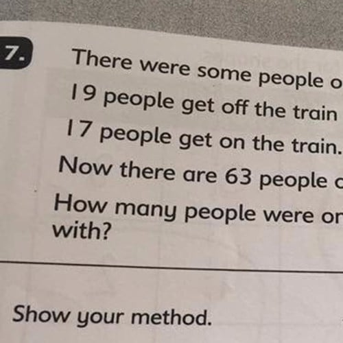 First Day Math Test Question Stumps Parents