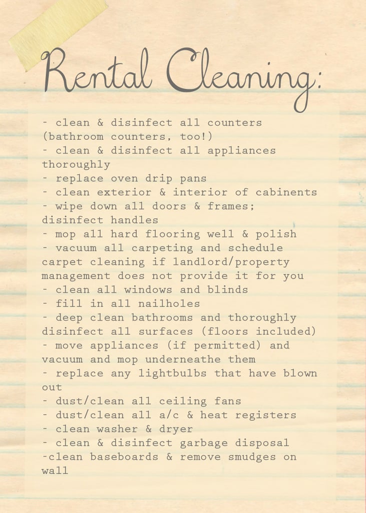 Download The Domestic Four Move Out Rental Cleaning List