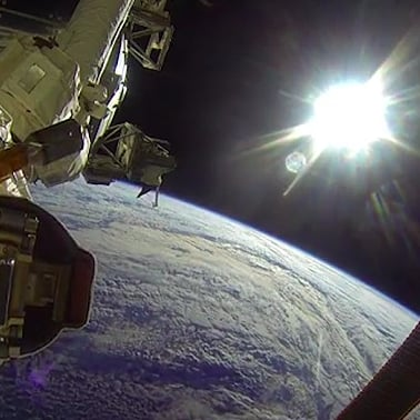 NASA Astronauts Go on Space Walk With GoPro