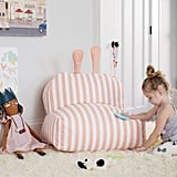 Striped Bunny Bean Bag Chair
