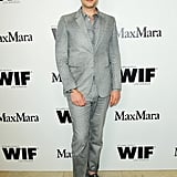 Cameron Silver looked stylish as usual in a gray suit.