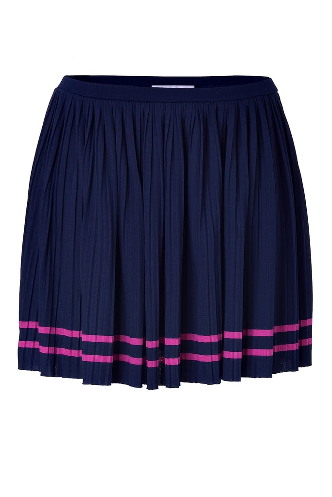 The bold neon stripe gives this girlie touch a striking sportiff twist.  Juicy Couture Regal Placed Stripe Pleated Skirt ($100)