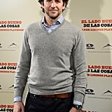 Bradley Cooper posed solo in Spain.