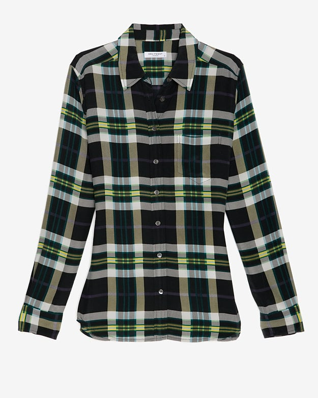 Equipment gives us another covetable iteration of its button-down this time in an oversize plaid print ($248) that we'd add to skinny denim or slick leather bottoms.
