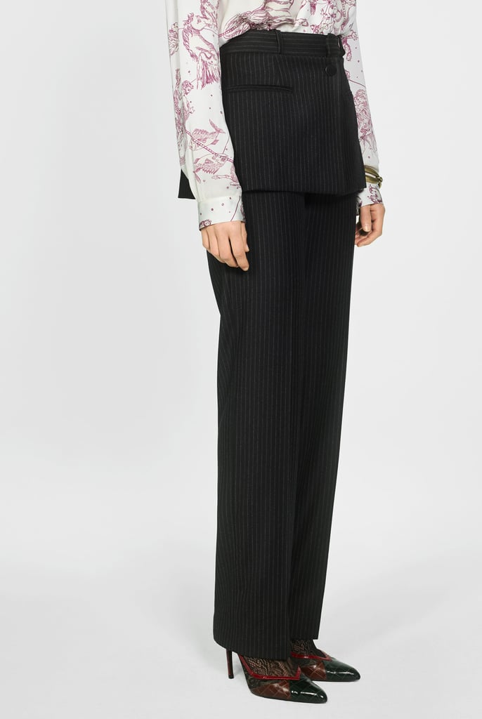 Zara Pinstripe Pants With Skirt