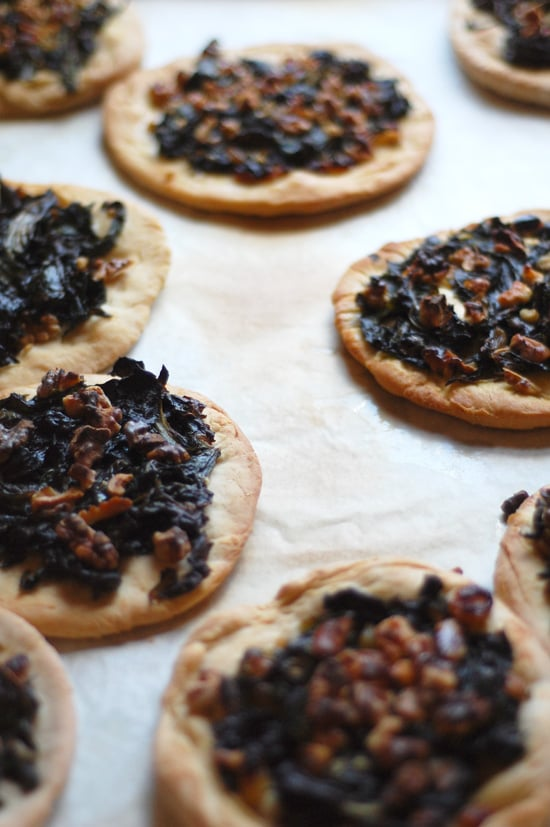 Vegetarian Appetizers: Spanish Pizza With Swiss Chard and Walnuts