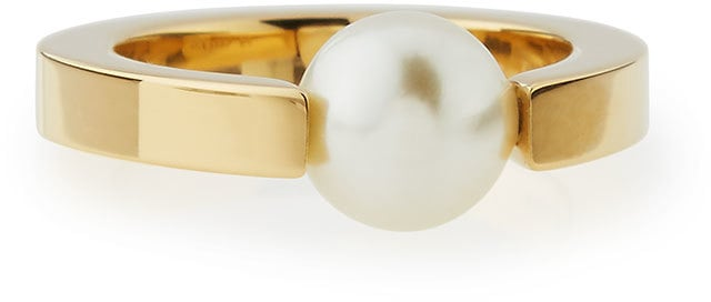 Chloé Darcy Simulated-Pearl Solitaire Ring, Size 7 ($240)