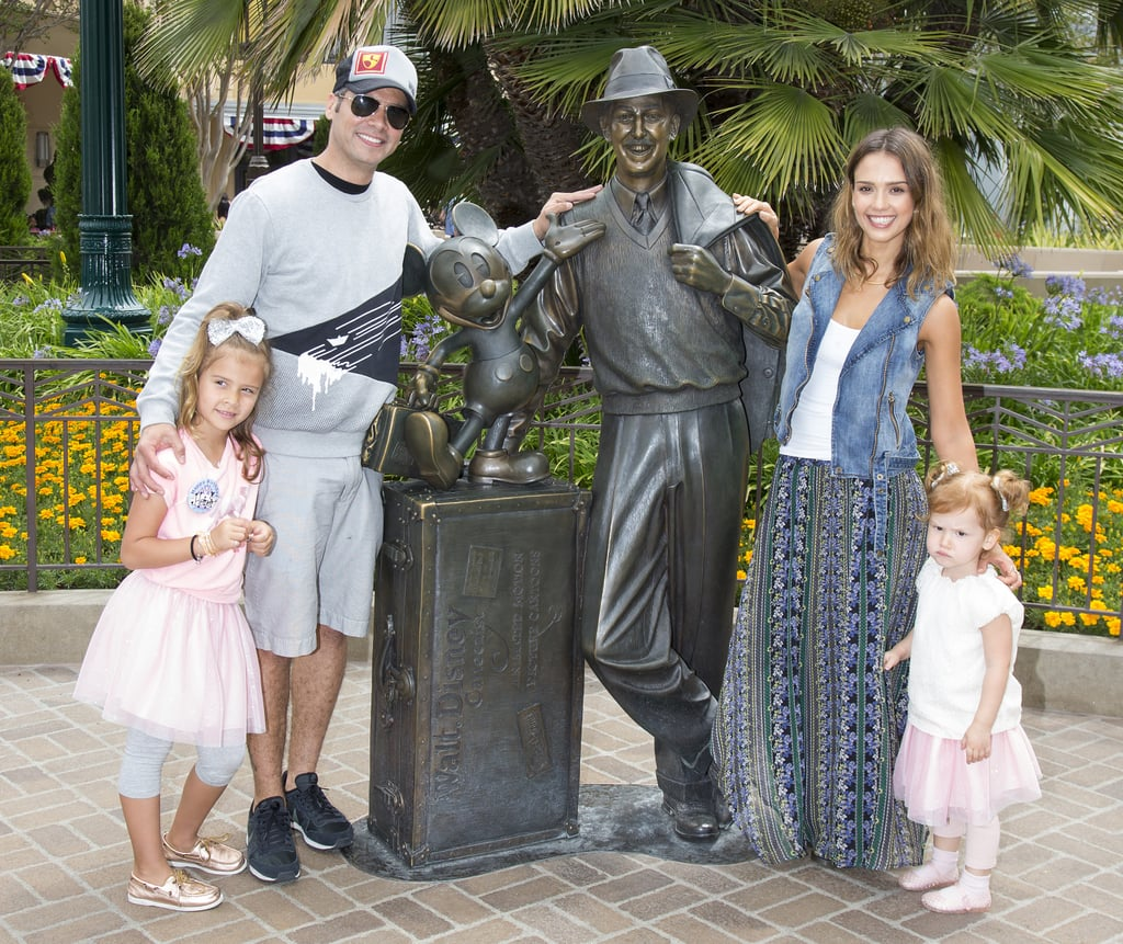 Jessica Alba and Cash Warren celebrated their daughter Honor's birthday by taking the whole family to Disneyland in June 2014.