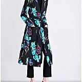 Diane von Furstenberg Floral-Print Silk-Gabardine Wrap Coat
