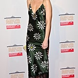 Whitney Port dazzled in a silk daisy-print dress.