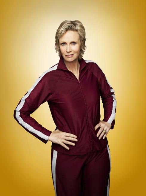 Jane Lynch as Sue on Glee.