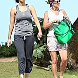 Jennifer Lawrence went for a walk in Hawaii.
