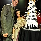 Kim Kardashian and then-husband Kris Humphries were welcomed to NYC with a party in their honour at Capitale in August 2011.