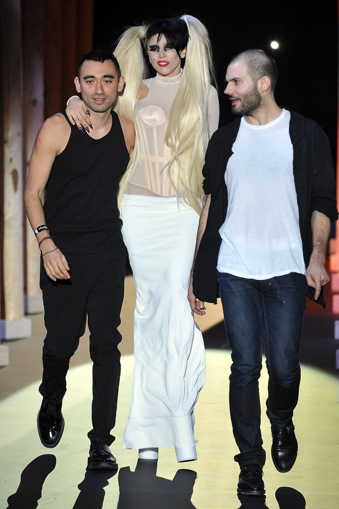 Nicola Formichetti and Lady Gaga Checked Twitter Right After the Mugler Show