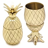 Brass Pineapple Tumbler in Gold