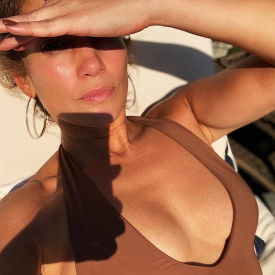 Jennifer Lopez's Brown One-Piece Swimsuit From Instagram