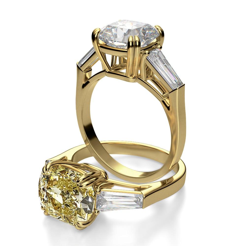 Martha Hunt S Cushion Cut Solitaire Engagement Ring