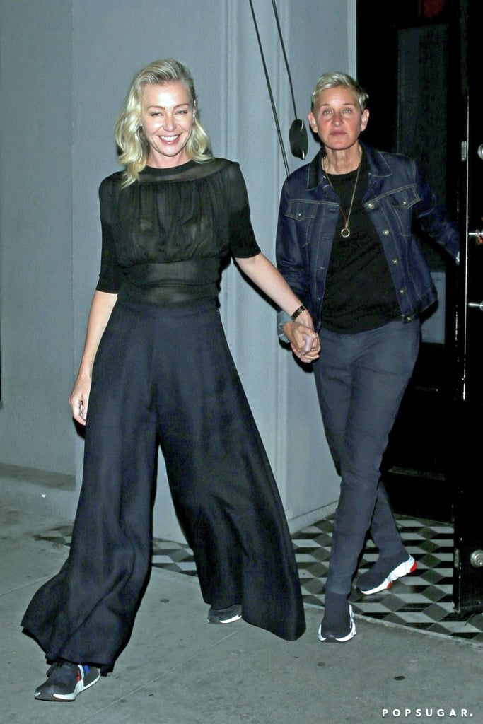 Ellen DeGeneres and Portia de Rossi Matching Sneakers