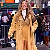 Blake Lively Outfits During Rhythm Section Press Tour