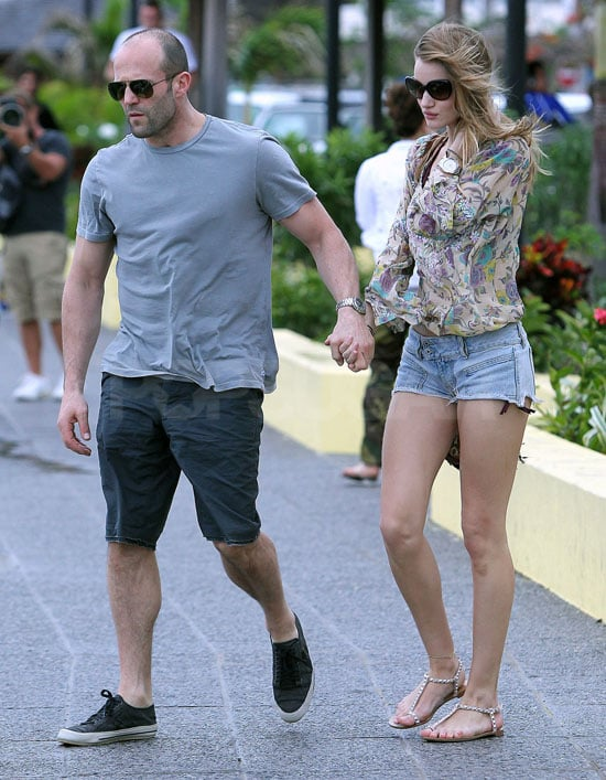 ¿Cuánto mide Jason Statham? - Real height Pictures-Jason-Statham-Rosie-Huntington-Whiteley-PDA-St-Barts