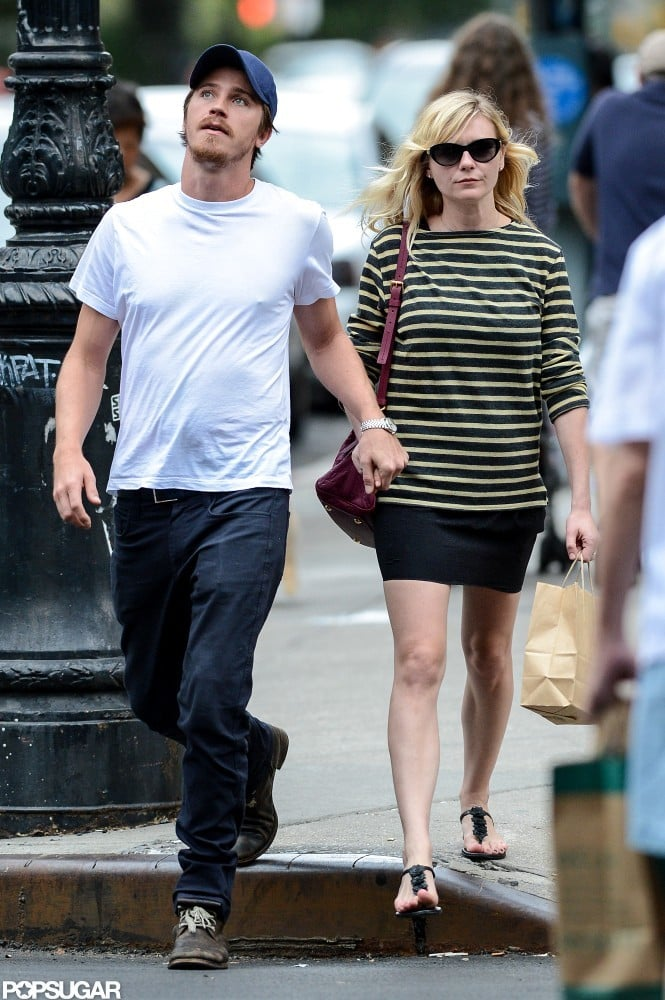 Kirsten Dunst and Garrett Hedlund held hands in NYC.