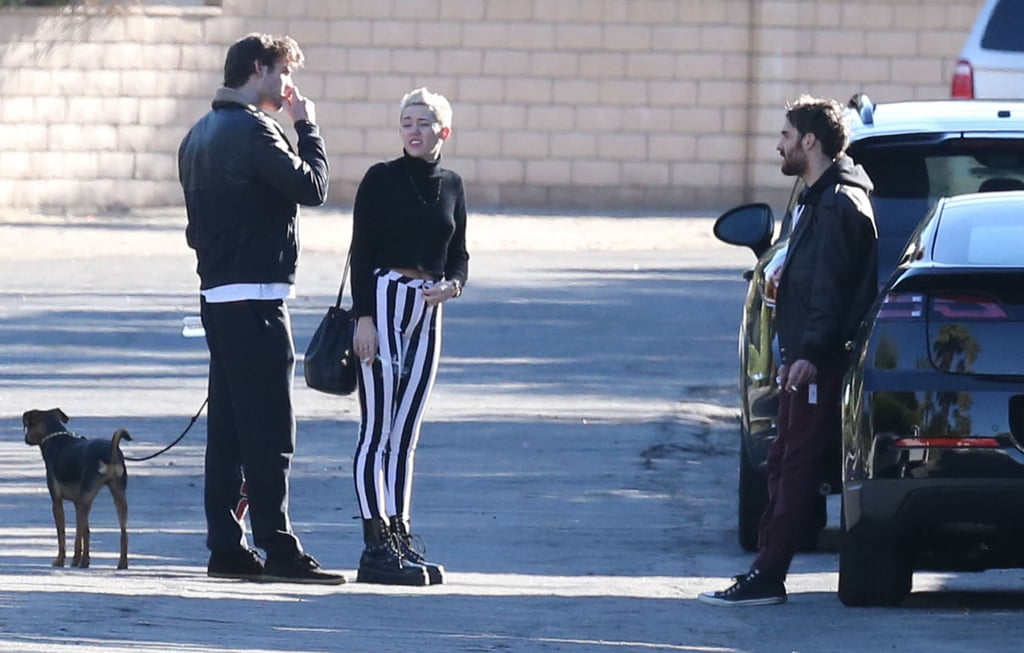 Miley Cyrus and Liam Hemsworth went to Palm Springs together.