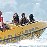 Rihanna was on a boat in Cannes.