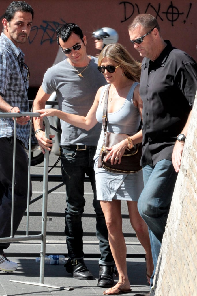 Jennifer Aniston and Justin Theroux went on a Rome vacation.