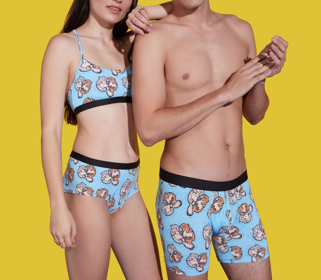 """In today's edition of """"Unnecessary Items That I'm Still Very Into,"""" MeUndies is selling """"significant otter"""" underwear for couples, so if anyone out there is looking for a person to be a little extra with, I'm now accepting applications. The underwear in question features a print of two very cute otters adorably hugging and holding hands with one another because, according to a product description, that's a real thing that otters do. MeUndies became known for its cutesy collections of his and hers underwear in the past. The company sold limited-edition Star Wars-themed underwear last Fall before introducing special wine and cheese couples' underwear for Valentine's Day in February. Customers interested in purchasing """"Significant Otter"""" underwear can choose among boxers, boxer briefs, thongs, boy shorts, and bikini cuts. Read ahead to get a better look and shop a few of the styles.      Related:                                                                                                           Reformation Collaborated With Cosabella to Create the Lingerie of Your Dreams"""