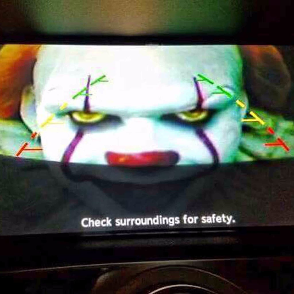 Husband Scares Wife With Photos on Backup Camera
