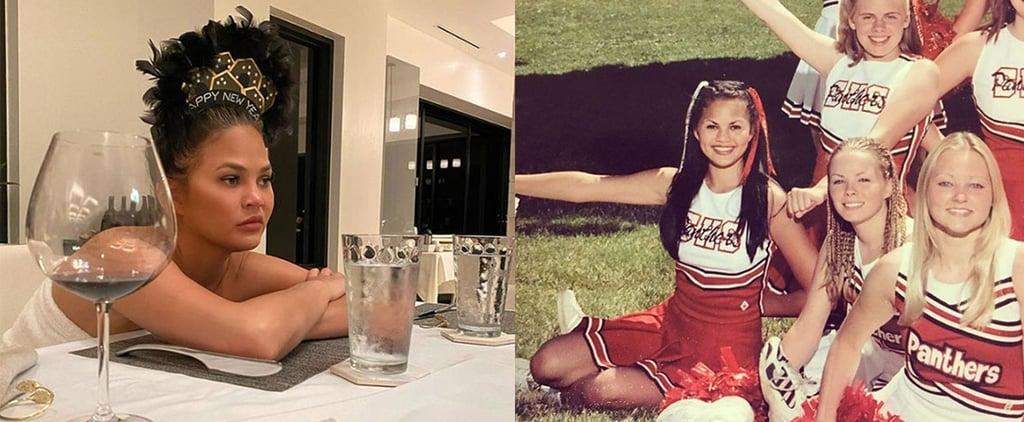Chrissy Teigen Cheerleading Pictures on Instagram
