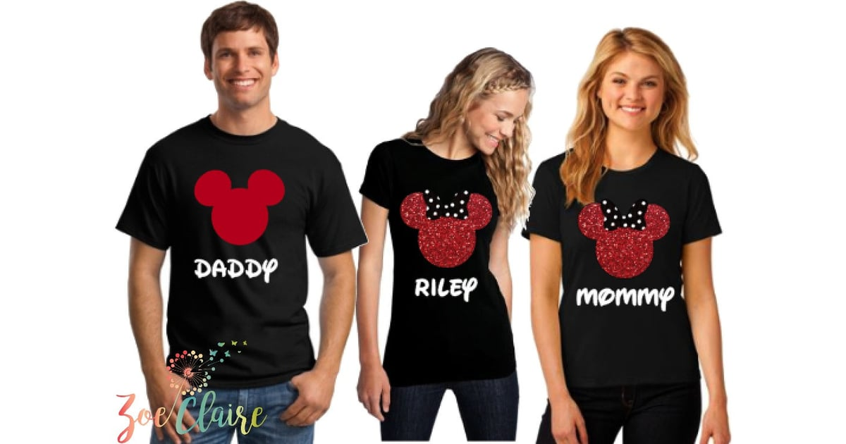 Matching Family Disney Glitter Shirts