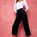 Boohoo Cropped Wide-Leg Cargo Pocket Pants