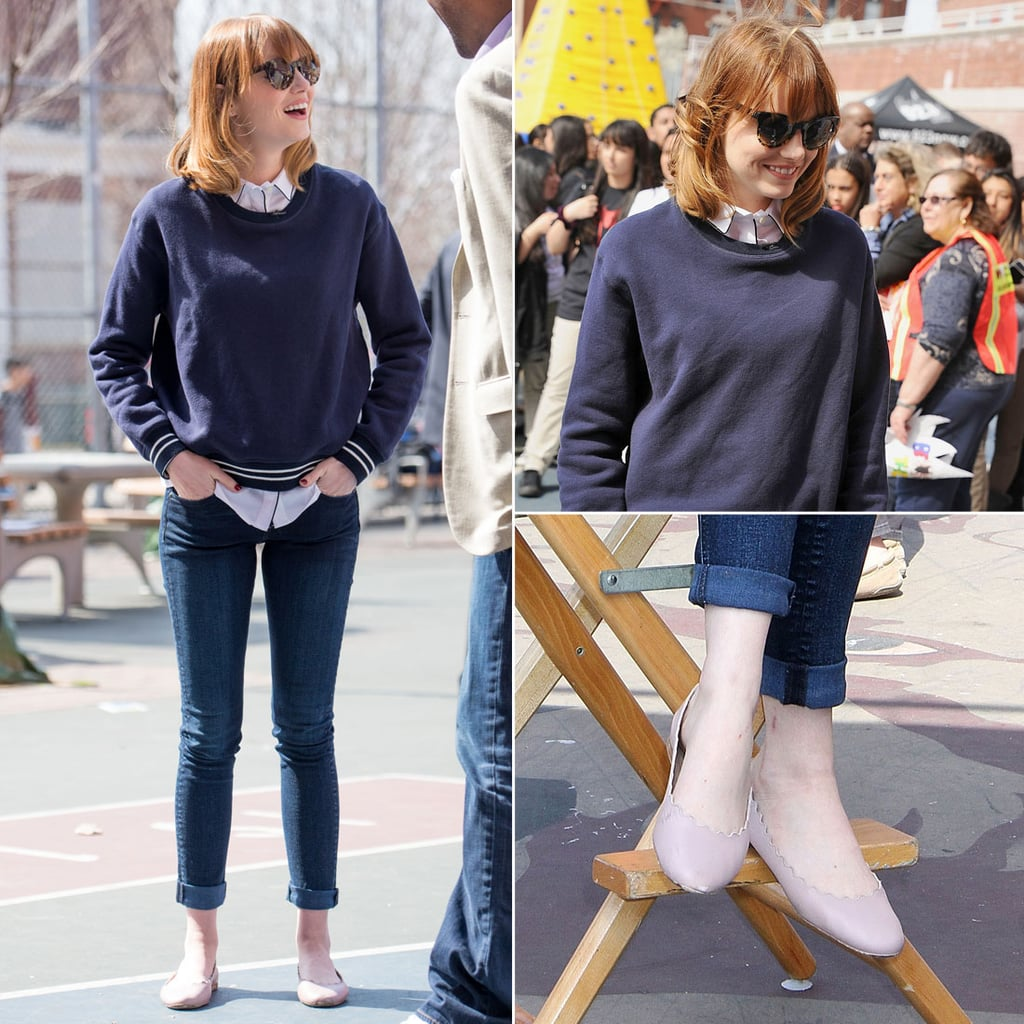 Pictures of Emma Stone Wearing Jeans
