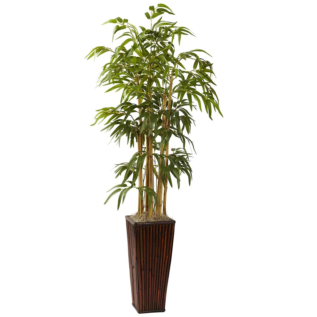 Nearly Natural 4-Feet Bamboo With Decorative Planter