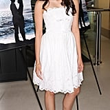 She played up her sweet side in a Spring-perfect LWD at the Fugitive Pieces premiere in April 2008.