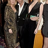 Ellie Goulding showed off a new hairdo when she partied with Olivier Rousteing and Lily Donaldson to celebrate the opening of London's first Balmain store.
