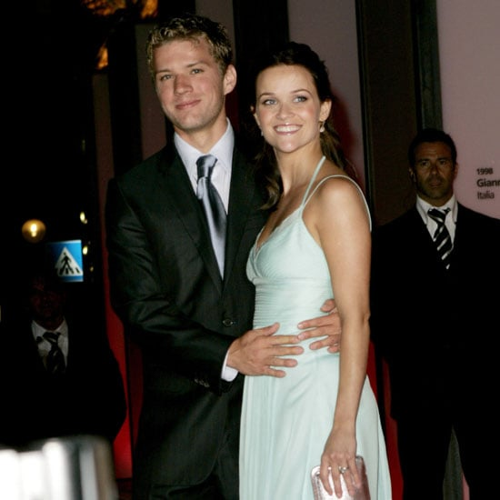 Ryan Phillippe stuck with Reese Witherspoon at the 2004 premiere of Vanity Fair.